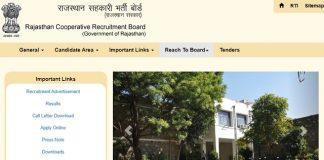 Rajasthan Cooperative Recruitment Board